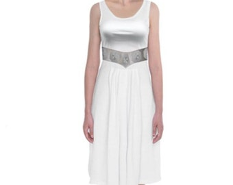 Princess Leia Star Wars Inspired Tank Midi Dress