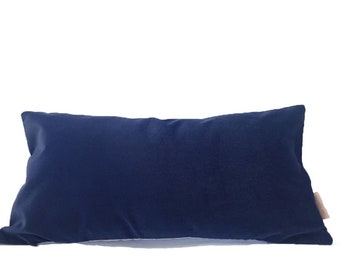 Navy Blue Large Velvet Fabric Cushion Cover    Free UK Delivery