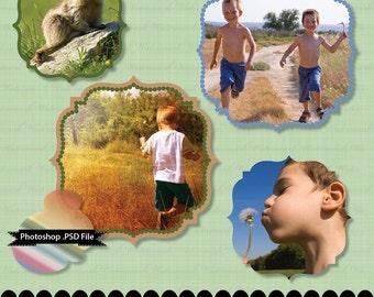 Photoshop frame digital clip art PSD clipart embellish diy : e0145