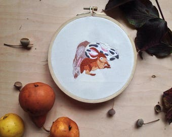 Rabbits Embroidery Design Home Decor Embroidery Hoop