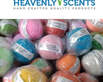 Lot of 15 Heavenly Scents Bath Bombs (2 ounce) Vegan Cruelty Free Bath Fizzies