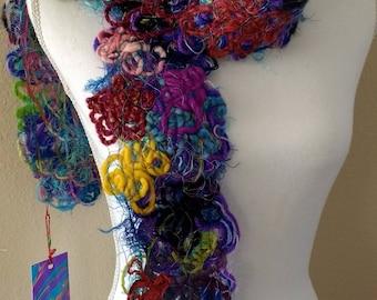 Joyful Fiber Scarf ~ Wearable Art