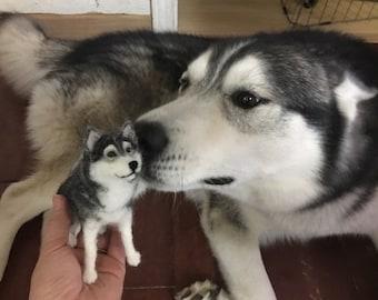 "Custom Made Needle Felted Dog "" Mini-Pup"""