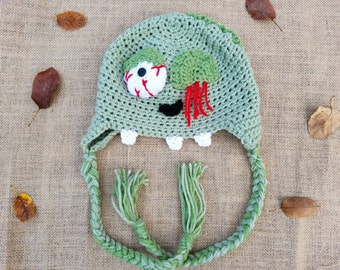 Zombie Hat- Crochet Zombie- Halloween Hats