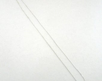 10 silver chains for necklace with lobster type clasp 46 cm