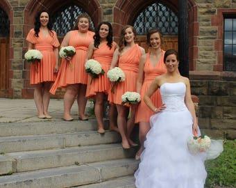 Cantaloupe Short Convertible Dress/ Custom Size / Plus Size & Maternity Included