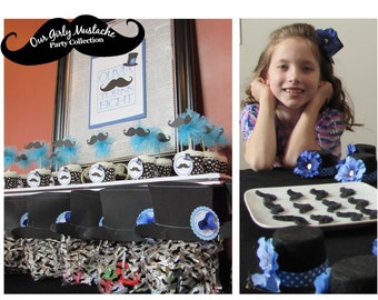 Girly Mustache Birthday Party Collection by HOOPLA Celebrations