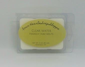 Wax melt, Clear Water scent, wax tart, clamshell wax melt, soy wax, wax warmer
