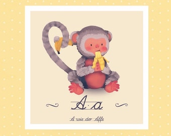 Tier-ABC - A wie Affe