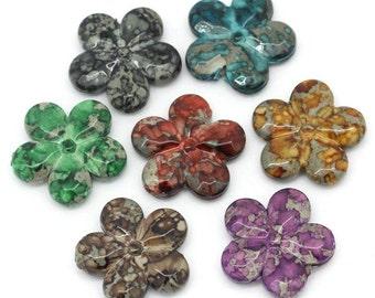 Acrylic Flower Mix  - 25 pieces - #ACR169