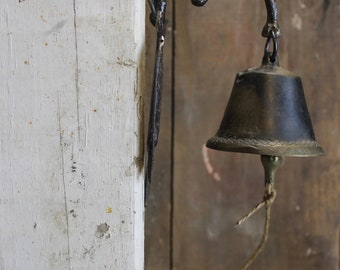Antique Brass Bell // Hanging Door Bell // Shop Bell