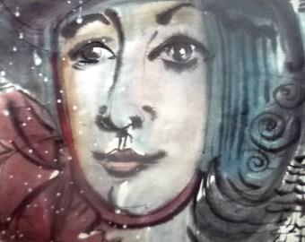 Portrait of a lady in hat. Winter / Портрет дамы в шляпке. Зима