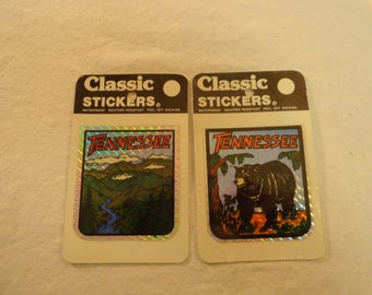 Pair Of 1980 Decal Specialties Inc. Classic Stickers Tennessee