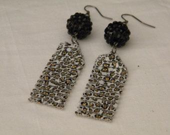 Vintage Leopard Print Earrings, Earrings for Women, Vintage Earrings for Women, Vintage Earrings, Earrings, Animal Print Earrings, Earrings