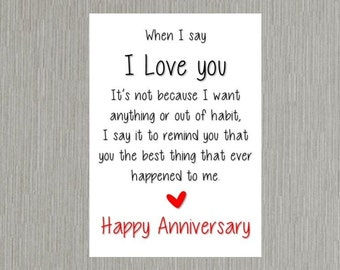 Anniversary  Card romantic love Wife/Husband/Boyfriend/Girlfriend
