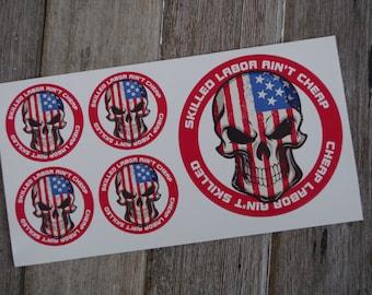 Ironworker sticker bundle, hard hat stickers, pack CIW BNDL1