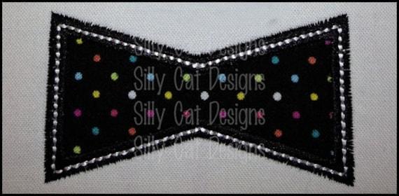 Bow Tie Applique Machine Embroidery Design