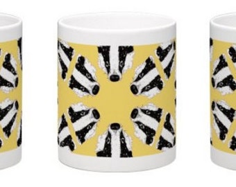 Stop the Badger Cull, Illustrated Coffee or Tea Mug