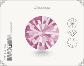 6 pc.+ SS39 (8mm) Preciosa MC Chaton MAXIMA - Rose Color