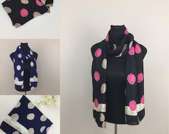 Silk feel women fashion roses scarf