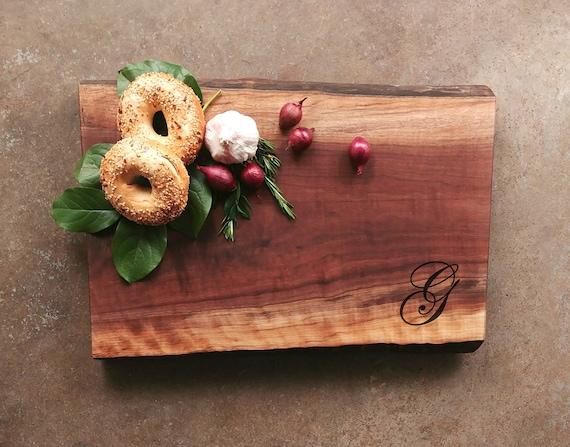Curly Black Walnut Live Edge Personalized Cutting Board