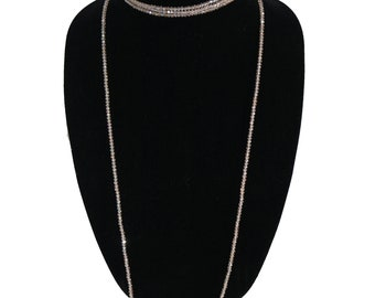 Multi Layer Crystal Chocker , Crystal Beaded Necklace ,