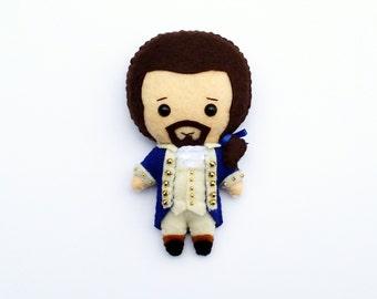 Alexander Hamilton Felt Plush Doll | Hamilton Musical Plushie | Hamilton Doll | Hamilton Ornament | Hamilton Musical