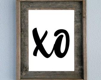 XO, Valentine's Day, Love, Printable, Home decor, Wall art