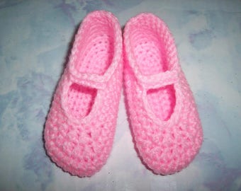 Pink Hand Crochet Slip On Mary Jane Shoes For The My Size Barbie Doll