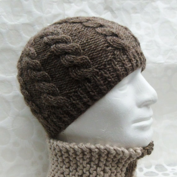 KNITTING PATTERN Cable Knit Fishermans Hat Pattern Digital
