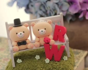 bear Wedding Cake Topper-love bear---k924