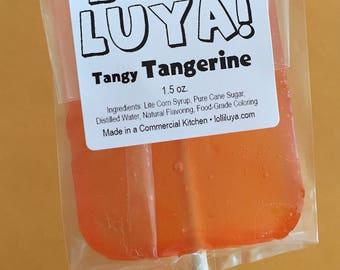 Tangy Tangerine Handmade Gourmet Lollipop (6 ct)