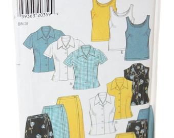 New Look 6628 Misses Blouse, Tank, Skirt  Pattern -- Size 8 to 18 -- Ladies, Women -- Top, Shirt, Skirt -- Uncut