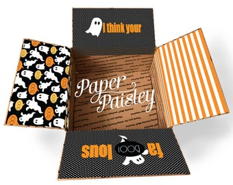 Care Package Sticker Kit - You're Fa-boo-lous/Halloween care package/ghost/boo/deployment/military/missionary/box flaps/shipping label/box