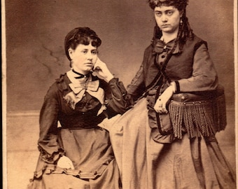 antique cdv of two women