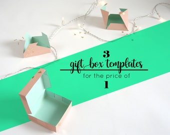 CLEAR OUT SALE! All three giftbox templates for the price of just one.