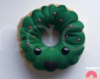 watermelon donut, large felt plush