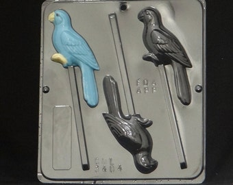 Parrot Lollipop Chocolate Candy Mold 3404