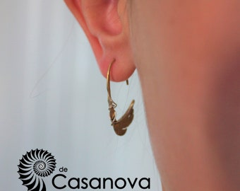 Bronze and Silver Earring