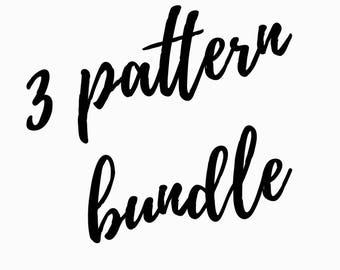 Cross Stitch pattern bundle, pick any 3 patterns, pattern deal, pattern discount, counted cross stitch, modern cross stitch patterns, pick 3