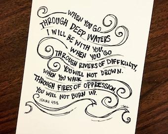 Isaiah 43:2 Print