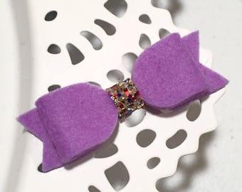 Mini Felt Bow - Light Violet