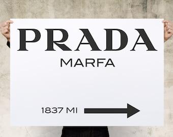 Prada Marfa Print Poster, Large Print, Canvas Print, Wall Art, Poster, Home Decor, Print Poster, Gift, Digital Art Print