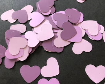 Pink and Purple Heart-Shaped Confetti (100 pk)