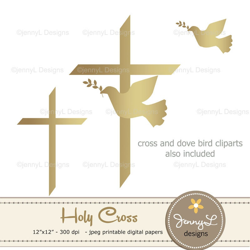 50 Off Gold Baptism Digital Papers First Communion Religious