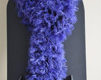 "Scarf ""frou-frou"" purplish blue"