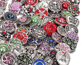 free shipping randomly 10pcs/lot mix DIY interchangeable handmad 18mm ginger snap button bracelet