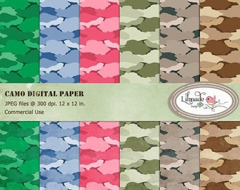 50%OFF Camo digital papers, Army camouflage digital papers for commercial use, textured camo, textured camouflage digital paper, P170