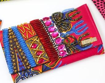 Bejeweled African Print Wallet - II