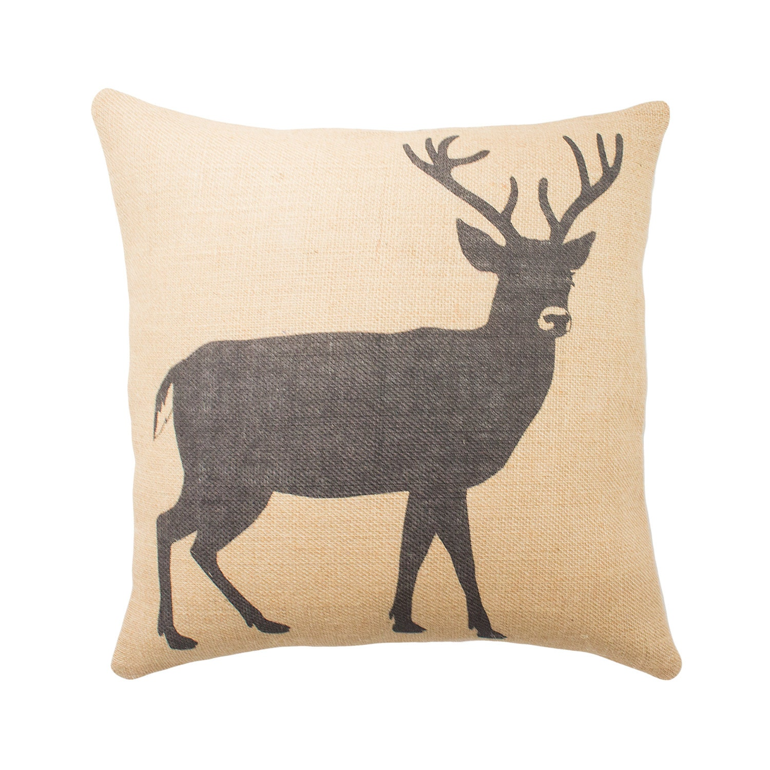 moose pillow image k wooded pillows linen profile deer river throw